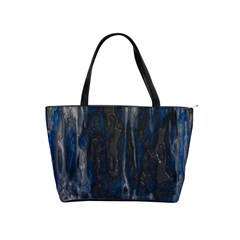 Blue Black Texture Classic Shoulder Handbag by LalyLauraFLM