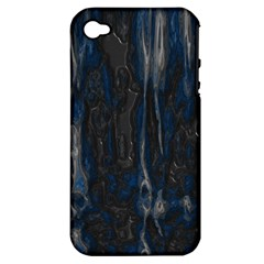 Blue Black Texture Apple Iphone 4/4s Hardshell Case (pc+silicone) by LalyLauraFLM