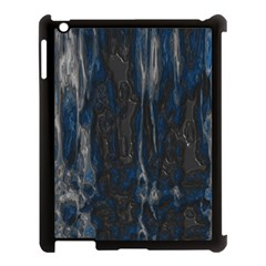 Blue Black Texture Apple Ipad 3/4 Case (black) by LalyLauraFLM