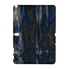 Blue Black Texture Samsung Galaxy Note 10 1 (p600) Hardshell Case by LalyLauraFLM