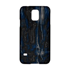 Blue Black Texture Samsung Galaxy S5 Hardshell Case  by LalyLauraFLM