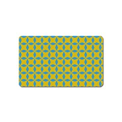 Blue Diamonds Pattern Magnet (name Card) by LalyLauraFLM
