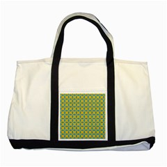 Blue Diamonds Pattern Two Tone Tote Bag by LalyLauraFLM