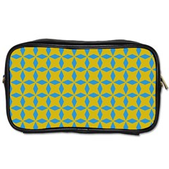 Blue Diamonds Pattern Toiletries Bag (one Side) by LalyLauraFLM