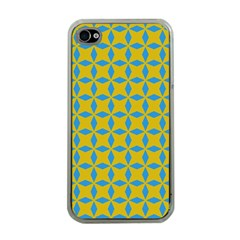 Blue Diamonds Pattern Apple Iphone 4 Case (clear) by LalyLauraFLM