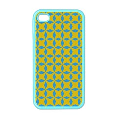 Blue Diamonds Pattern Apple Iphone 4 Case (color) by LalyLauraFLM