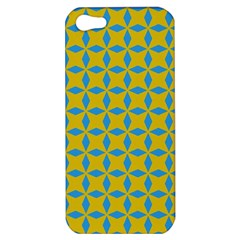 Blue Diamonds Pattern Apple Iphone 5 Hardshell Case by LalyLauraFLM