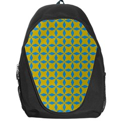 Blue Diamonds Pattern Backpack Bag by LalyLauraFLM
