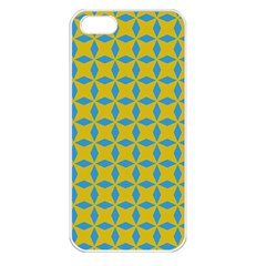Blue Diamonds Pattern Apple Iphone 5 Seamless Case (white) by LalyLauraFLM