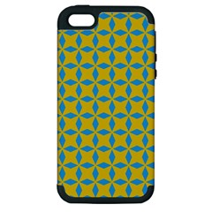 Blue Diamonds Pattern Apple Iphone 5 Hardshell Case (pc+silicone) by LalyLauraFLM