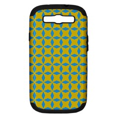 Blue Diamonds Pattern Samsung Galaxy S Iii Hardshell Case (pc+silicone) by LalyLauraFLM