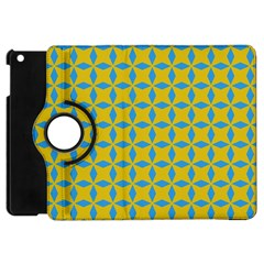 Blue Diamonds Pattern Apple Ipad Mini Flip 360 Case by LalyLauraFLM