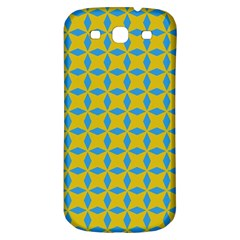 Blue Diamonds Pattern Samsung Galaxy S3 S Iii Classic Hardshell Back Case by LalyLauraFLM