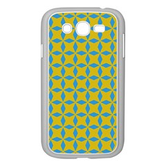 Blue Diamonds Pattern Samsung Galaxy Grand Duos I9082 Case (white) by LalyLauraFLM