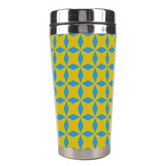 Blue Diamonds Pattern Stainless Steel Travel Tumbler by LalyLauraFLM