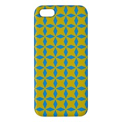 Blue Diamonds Pattern Iphone 5s Premium Hardshell Case by LalyLauraFLM