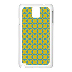 Blue Diamonds Pattern Samsung Galaxy Note 3 N9005 Case (white) by LalyLauraFLM