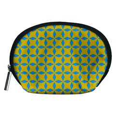 Blue Diamonds Pattern Accessory Pouch (medium) by LalyLauraFLM