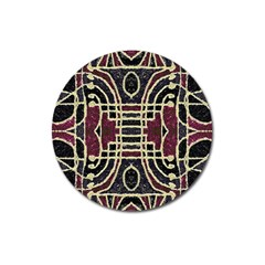 Tribal Style Ornate Grunge Pattern  Magnet 3  (round) by dflcprints