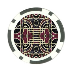 Tribal Style Ornate Grunge Pattern  Poker Chip by dflcprints
