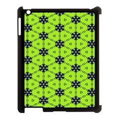 Blue Flowers Pattern Apple Ipad 3/4 Case (black) by LalyLauraFLM