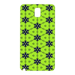 Blue Flowers Pattern Samsung Galaxy Note 3 N9005 Hardshell Back Case by LalyLauraFLM