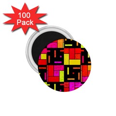 Squares And Rectangles 1 75  Magnet (100 Pack)  by LalyLauraFLM
