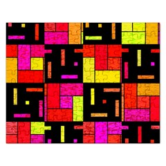 Squares And Rectangles Jigsaw Puzzle (rectangular) by LalyLauraFLM