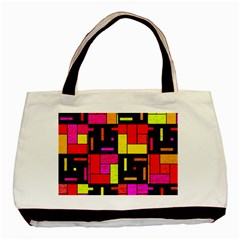 Squares And Rectangles Basic Tote Bag by LalyLauraFLM