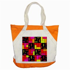 Squares And Rectangles Accent Tote Bag by LalyLauraFLM