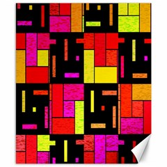 Squares And Rectangles Canvas 8  X 10  by LalyLauraFLM