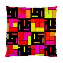 Squares And Rectangles Standard Cushion Case (two Sides) by LalyLauraFLM