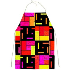 Squares And Rectangles Full Print Apron by LalyLauraFLM