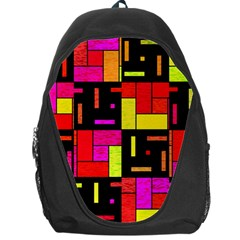 Squares And Rectangles Backpack Bag by LalyLauraFLM