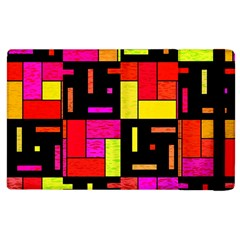 Squares And Rectangles Apple Ipad 3/4 Flip Case by LalyLauraFLM