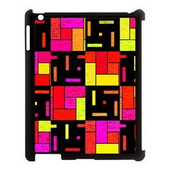 Squares And Rectangles Apple Ipad 3/4 Case (black) by LalyLauraFLM