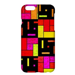 Squares And Rectangles Apple Iphone 6 Plus Hardshell Case by LalyLauraFLM