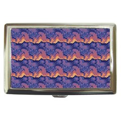 Pink Blue Waves Pattern Cigarette Money Case