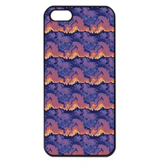 Pink Blue Waves Pattern Apple Iphone 5 Seamless Case (black) by LalyLauraFLM