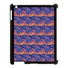 Pink Blue Waves Pattern Apple Ipad 3/4 Case (black) by LalyLauraFLM