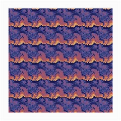 Pink Blue Waves Pattern Glasses Cloth (medium) by LalyLauraFLM