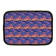 Pink Blue Waves Pattern Netbook Case (medium) by LalyLauraFLM