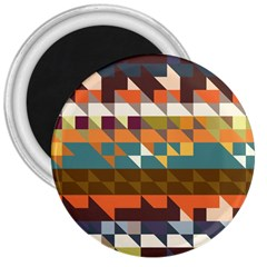 Shapes In Retro Colors 3  Magnet by LalyLauraFLM