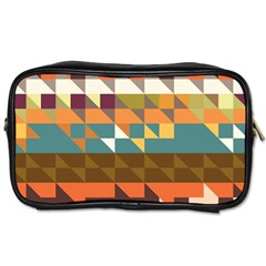 Shapes In Retro Colors Toiletries Bag (two Sides) by LalyLauraFLM