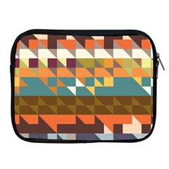 Shapes In Retro Colors Apple Ipad 2/3/4 Zipper Case