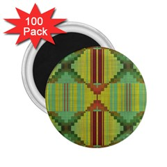 Tribal Shapes 2 25  Magnet (100 Pack)  by LalyLauraFLM