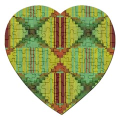 Tribal Shapes Jigsaw Puzzle (heart) by LalyLauraFLM