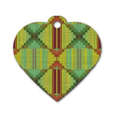 Tribal Shapes Dog Tag Heart (one Side) by LalyLauraFLM