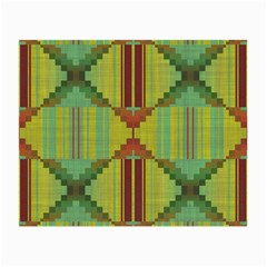 Tribal Shapes Glasses Cloth (small, Two Sides) by LalyLauraFLM