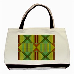 Tribal Shapes Basic Tote Bag (two Sides) by LalyLauraFLM